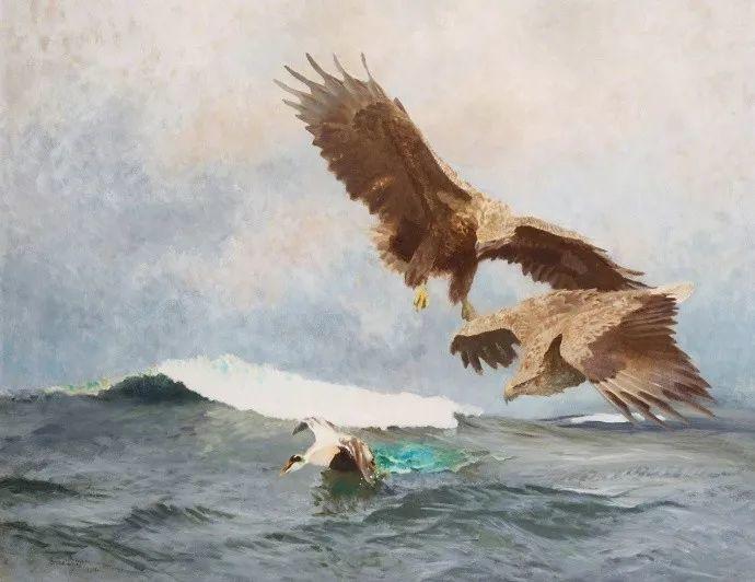 著名野生动物画家,瑞典Bruno Liljefors插图13