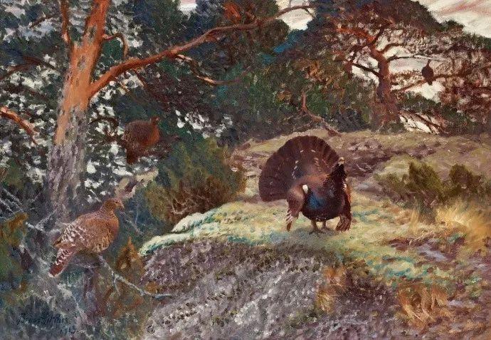 著名野生动物画家,瑞典Bruno Liljefors插图16