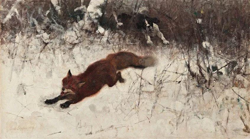 著名野生动物画家,瑞典Bruno Liljefors插图21