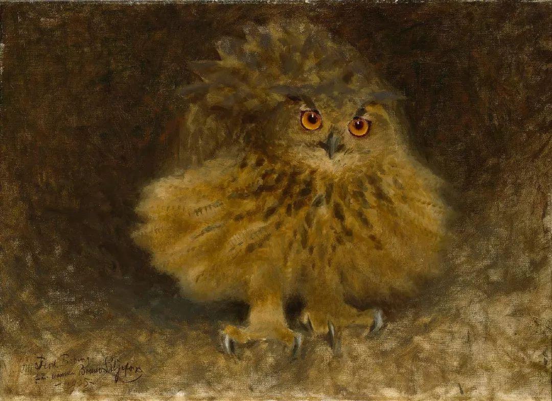 著名野生动物画家,瑞典Bruno Liljefors插图23
