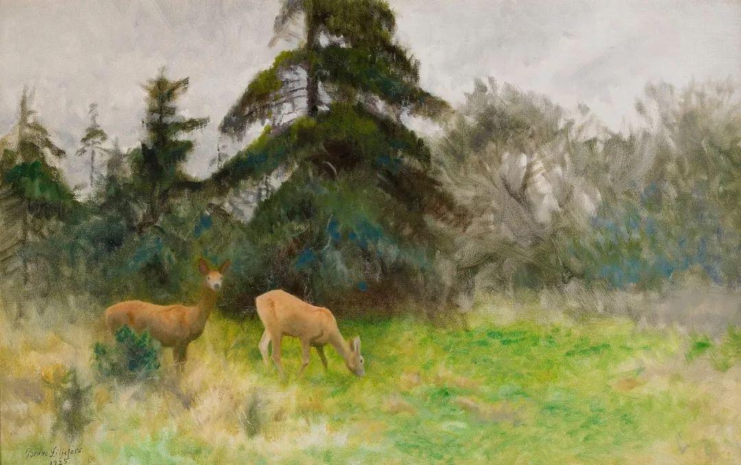 著名野生动物画家,瑞典Bruno Liljefors插图24