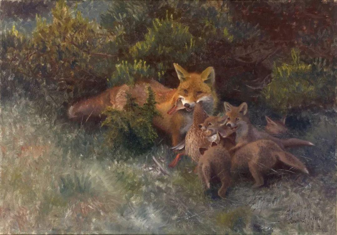 著名野生动物画家,瑞典Bruno Liljefors插图28