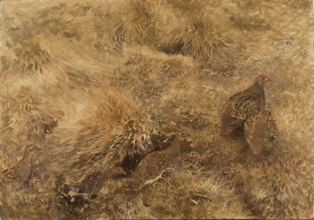 著名野生动物画家,瑞典Bruno Liljefors插图30
