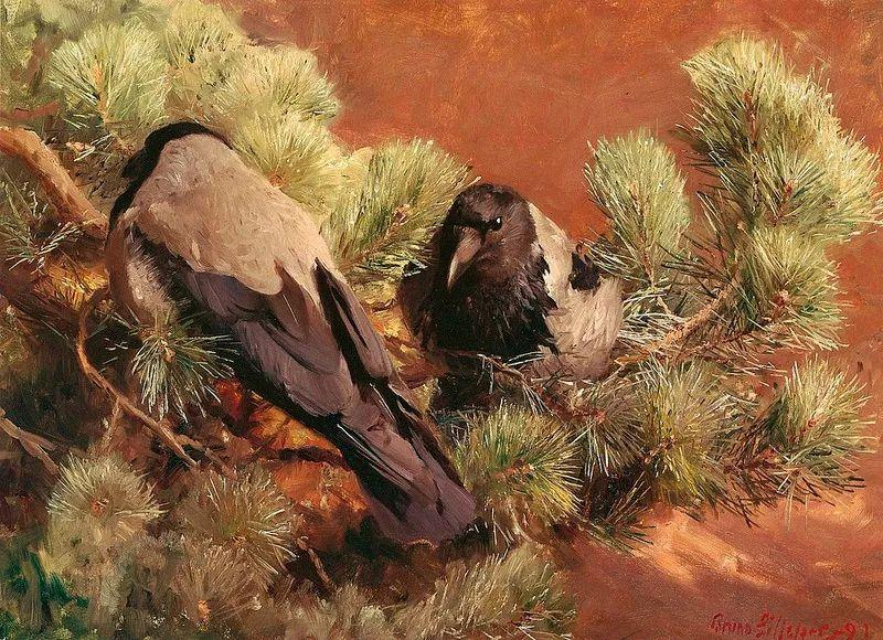 著名野生动物画家,瑞典Bruno Liljefors插图38