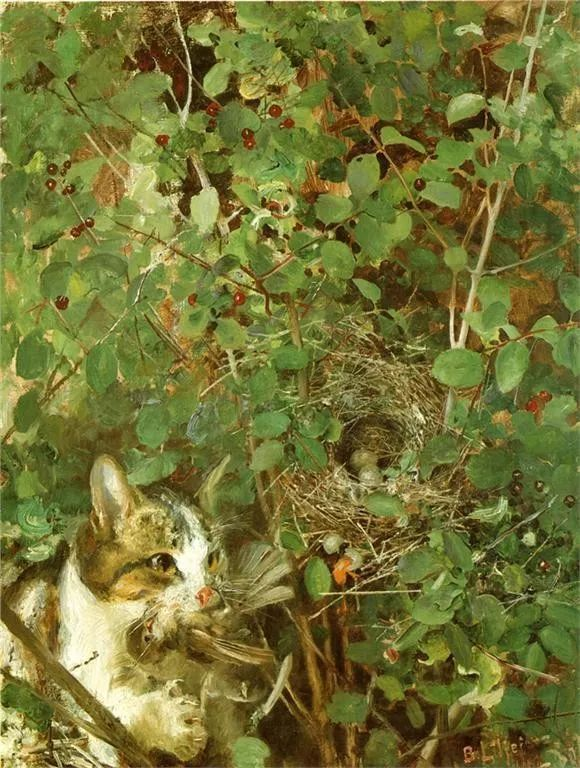 著名野生动物画家,瑞典Bruno Liljefors插图41