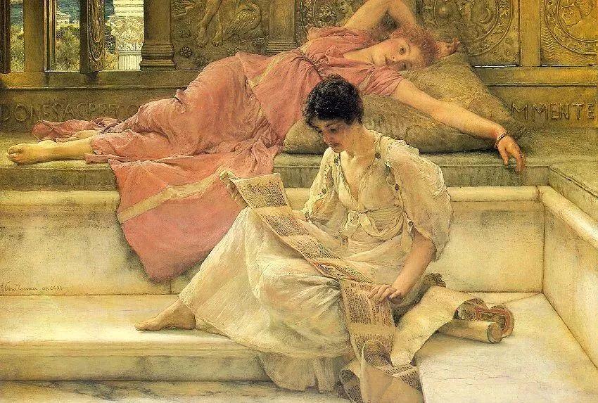 超群的写实技巧和优美的画面构成,英国画家Lawrence Alma Tadema插图19