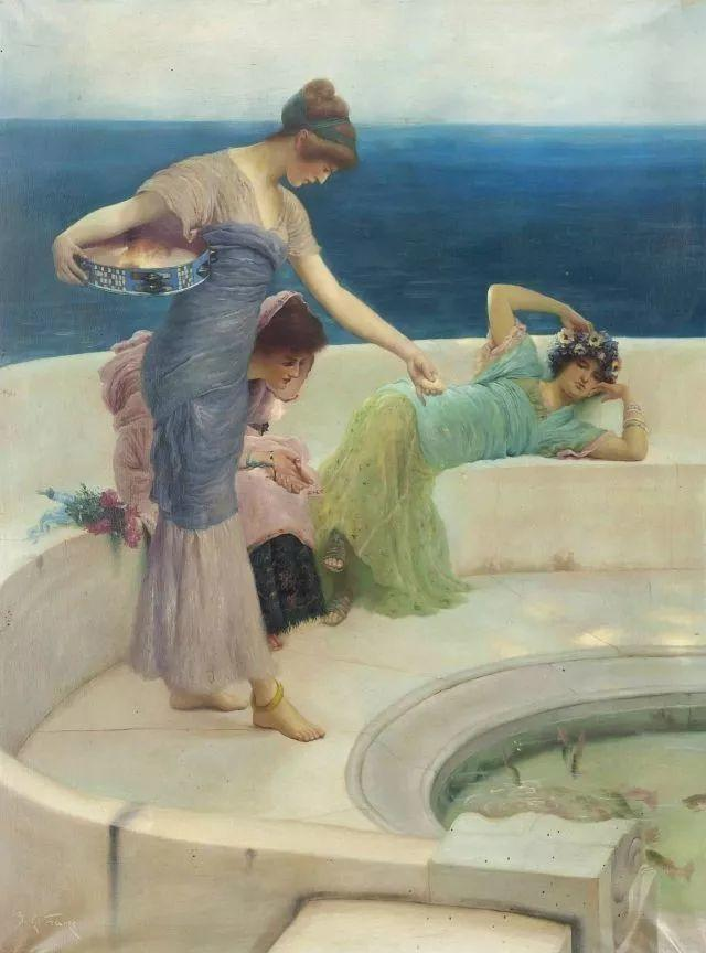 超群的写实技巧和优美的画面构成,英国画家Lawrence Alma Tadema插图25