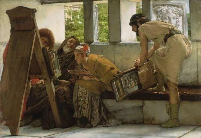 超群的写实技巧和优美的画面构成,英国画家Lawrence Alma Tadema插图33