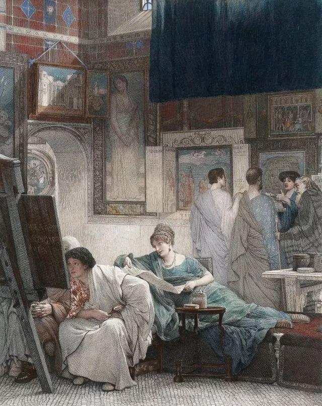 超群的写实技巧和优美的画面构成,英国画家Lawrence Alma Tadema插图39