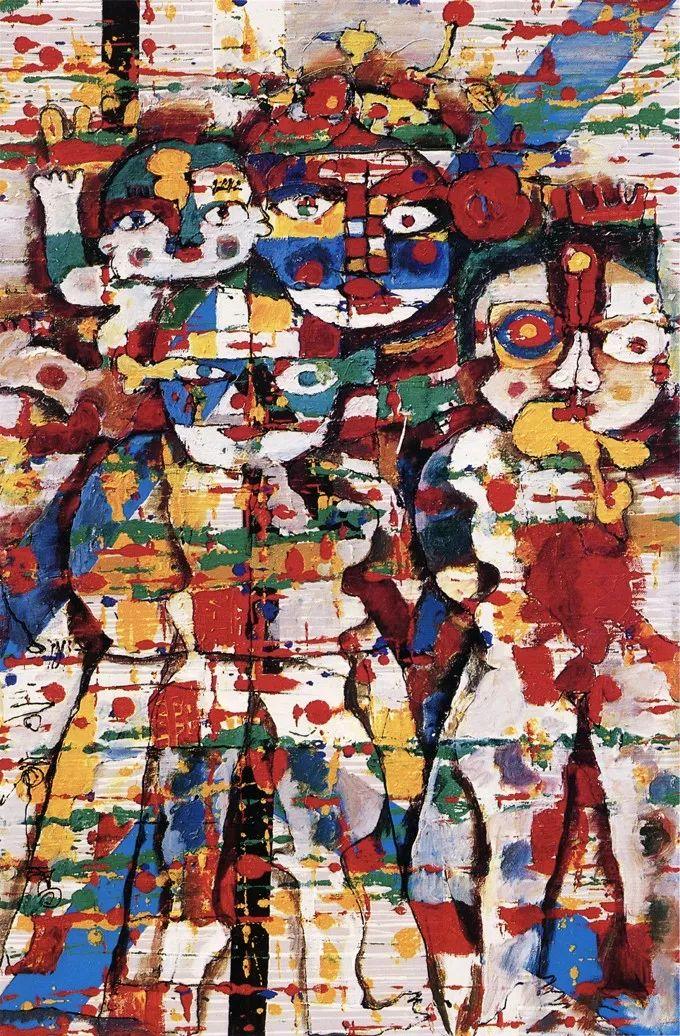 石虎90年代油画作品欣赏插图1
