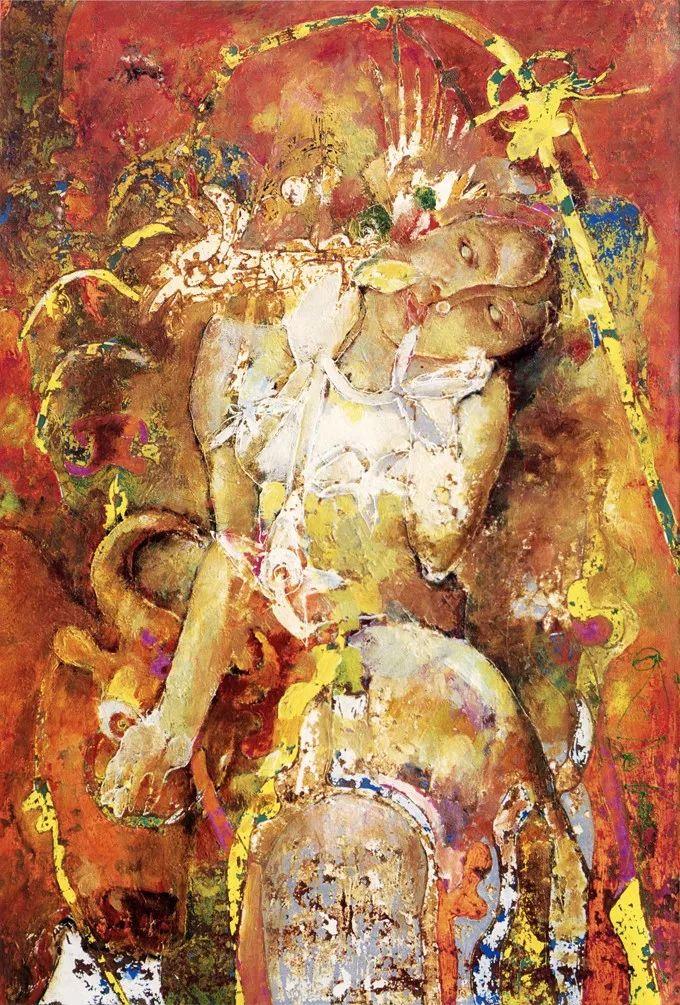 石虎90年代油画作品欣赏插图3