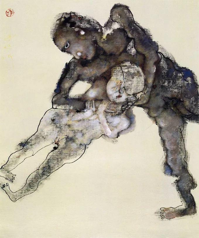石虎90年代油画作品欣赏插图8
