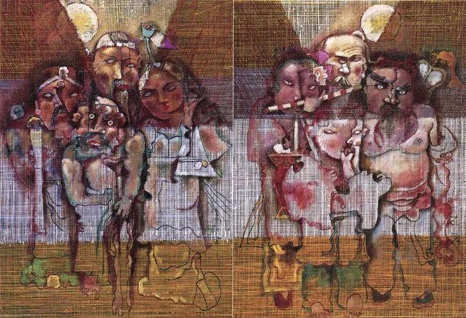 石虎90年代油画作品欣赏插图14