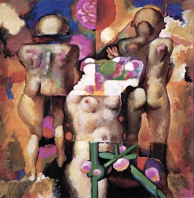 石虎90年代油画作品欣赏插图21