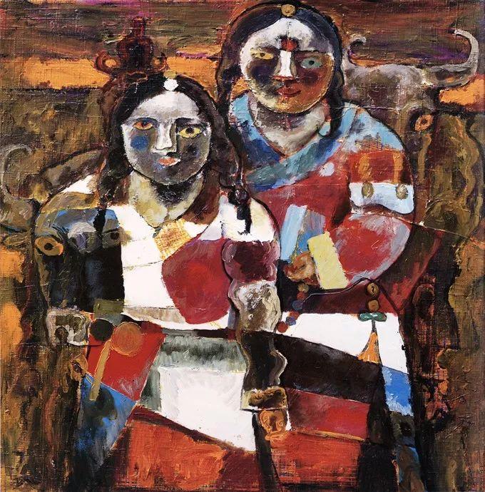 石虎90年代油画作品欣赏插图24