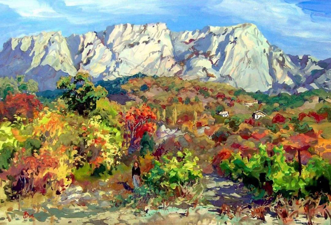 充满阳光的风景,克里米亚艺术家Vladimir Olkhov插图