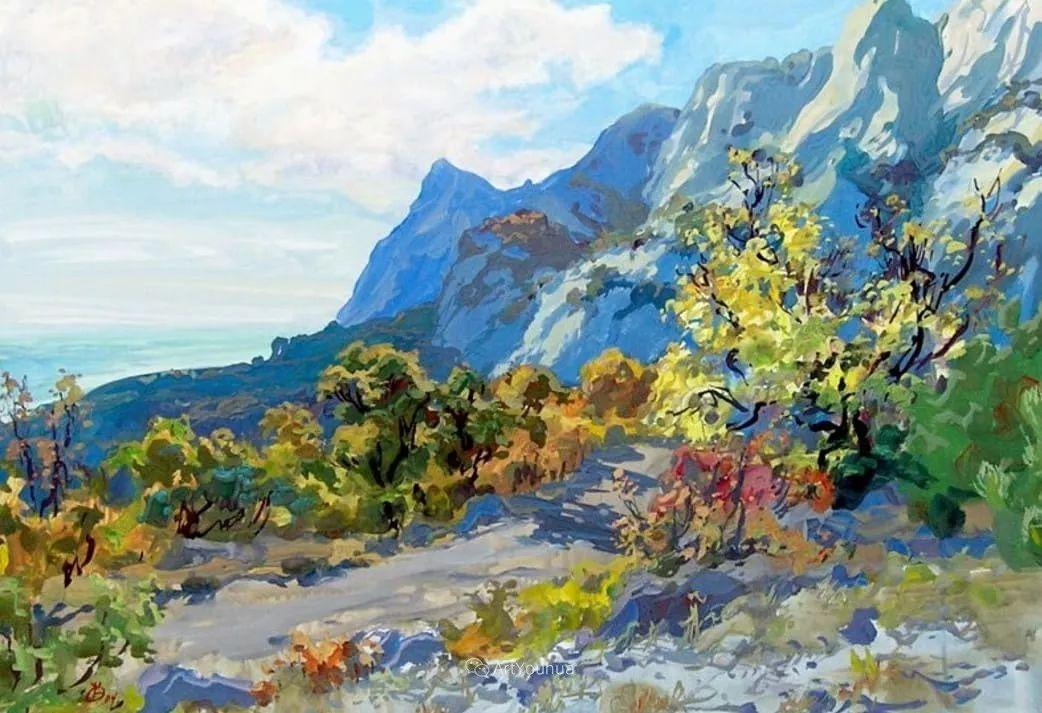 充满阳光的风景,克里米亚艺术家Vladimir Olkhov插图2