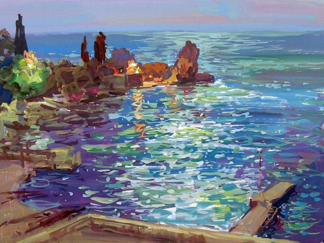 充满阳光的风景,克里米亚艺术家Vladimir Olkhov插图5