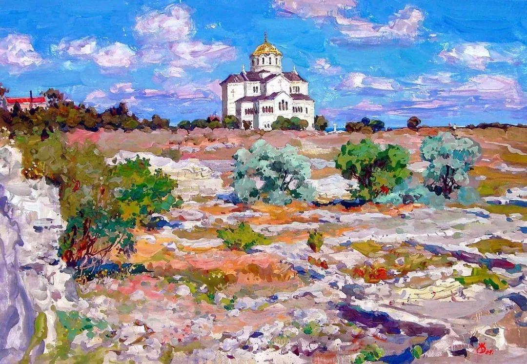 充满阳光的风景,克里米亚艺术家Vladimir Olkhov插图6