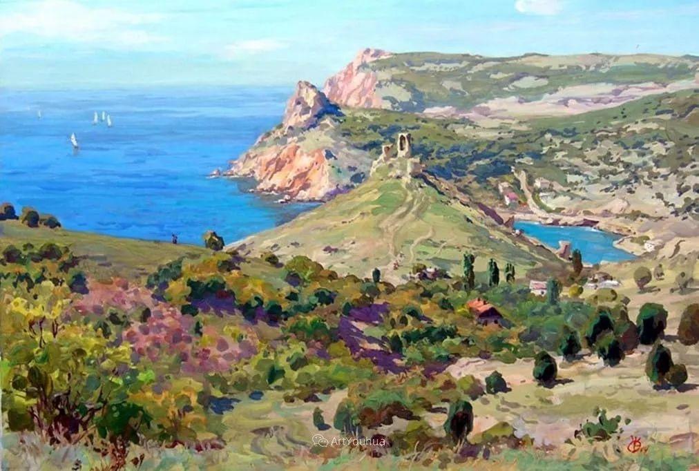 充满阳光的风景,克里米亚艺术家Vladimir Olkhov插图7