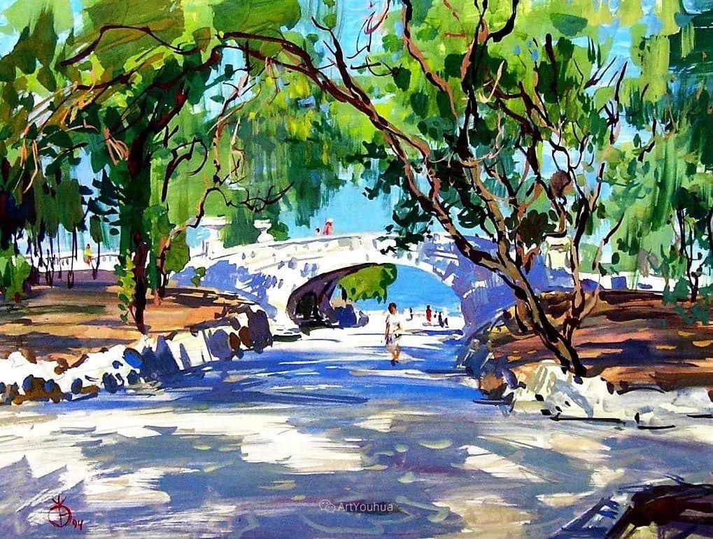 充满阳光的风景,克里米亚艺术家Vladimir Olkhov插图9