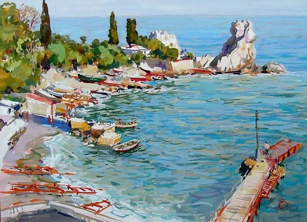 充满阳光的风景,克里米亚艺术家Vladimir Olkhov插图12