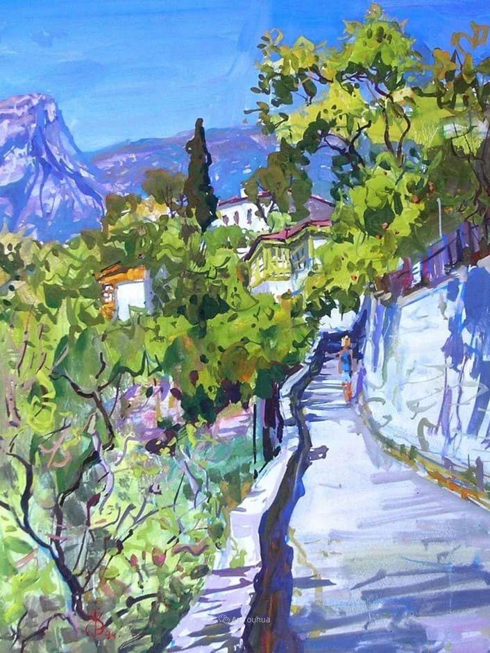 充满阳光的风景,克里米亚艺术家Vladimir Olkhov插图15