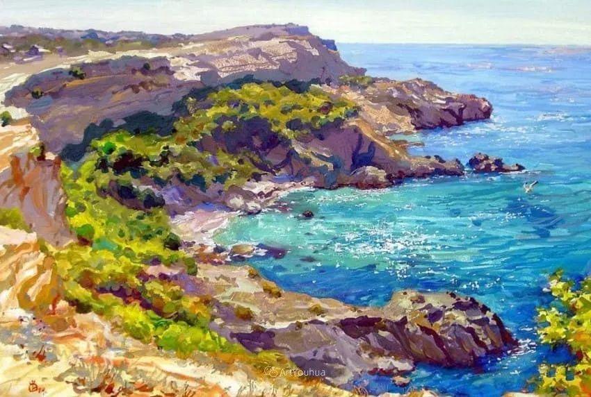充满阳光的风景,克里米亚艺术家Vladimir Olkhov插图16