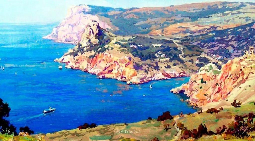 充满阳光的风景,克里米亚艺术家Vladimir Olkhov插图23
