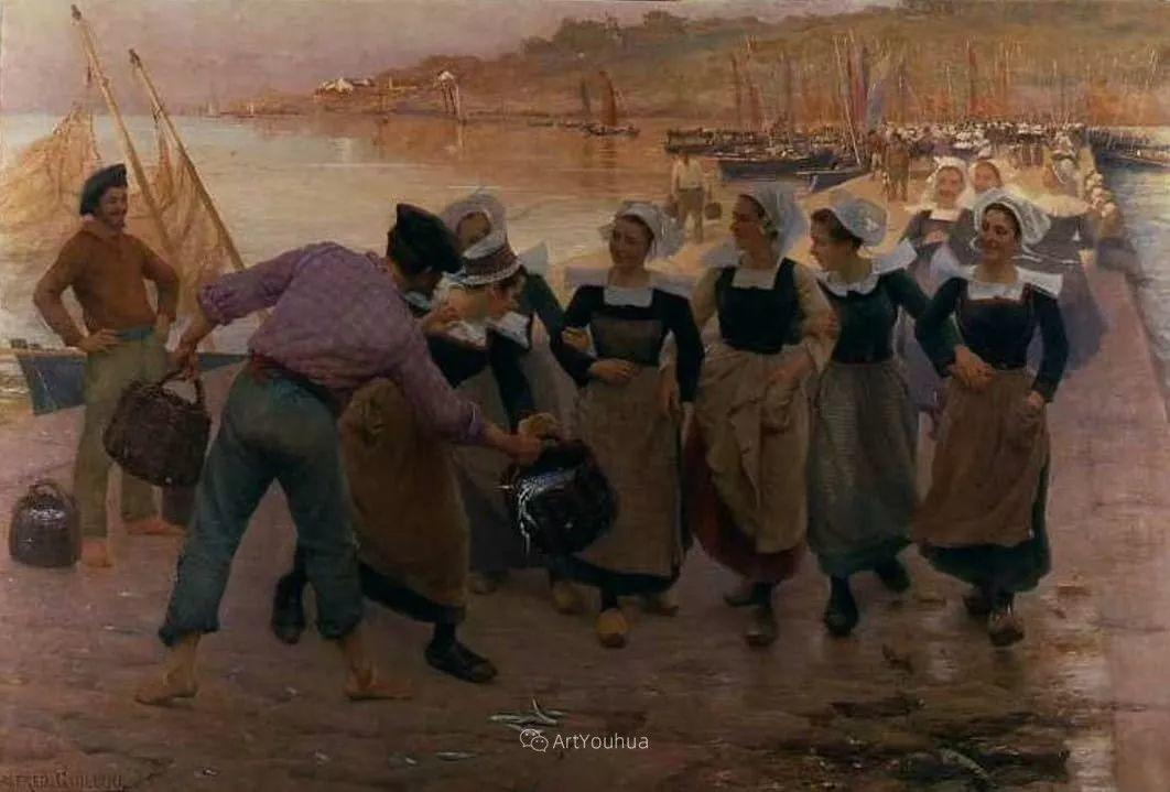 海边的幸福,法国艺术家Alfred Guillou插图7