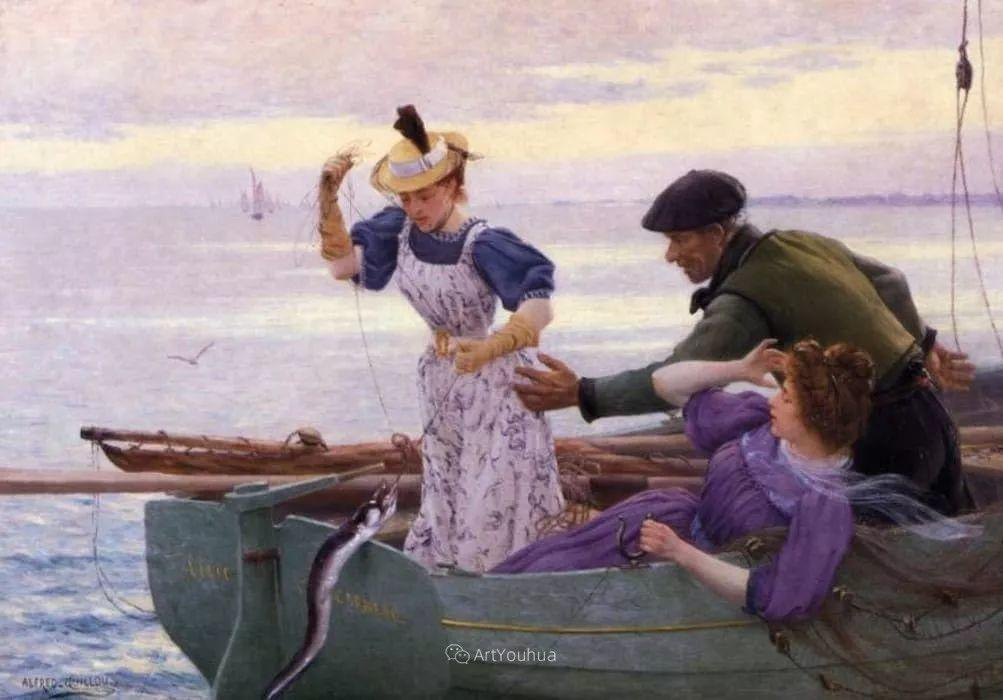 海边的幸福,法国艺术家Alfred Guillou插图8