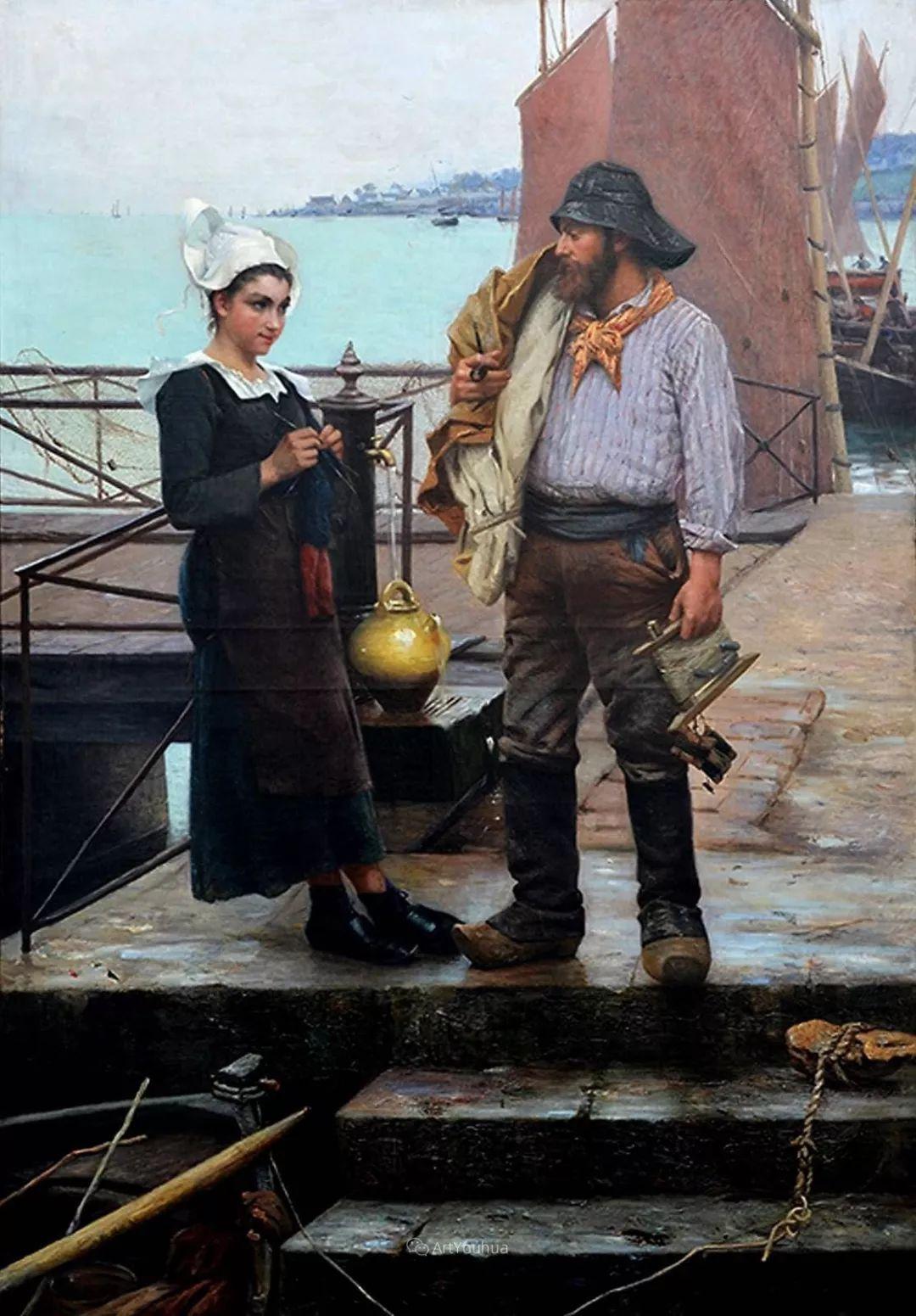 海边的幸福,法国艺术家Alfred Guillou插图12