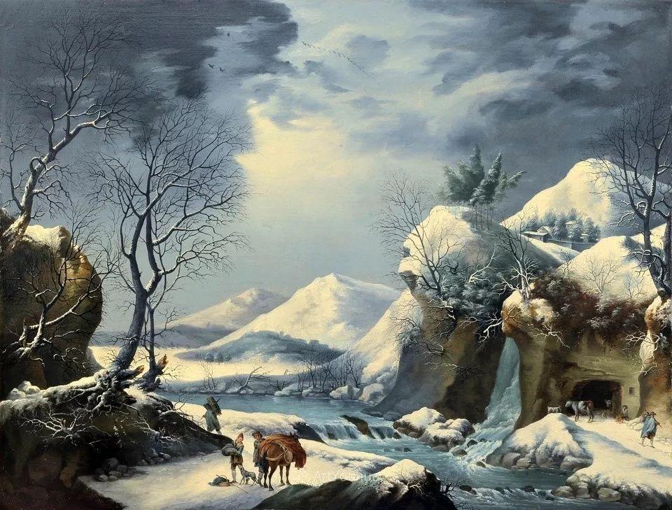犹如仙境的冬季风景画,意大利艺术家Francesco Foschi插图