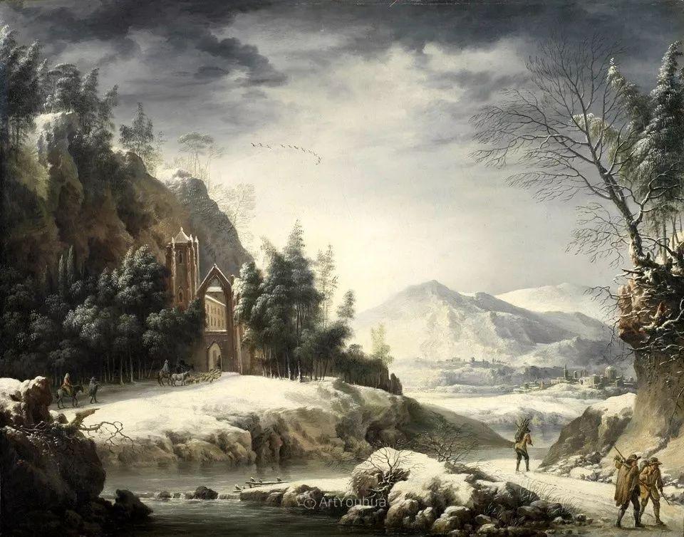 犹如仙境的冬季风景画,意大利艺术家Francesco Foschi插图1