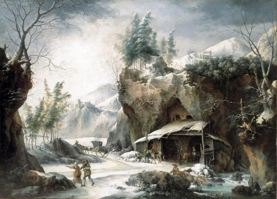 犹如仙境的冬季风景画,意大利艺术家Francesco Foschi插图2