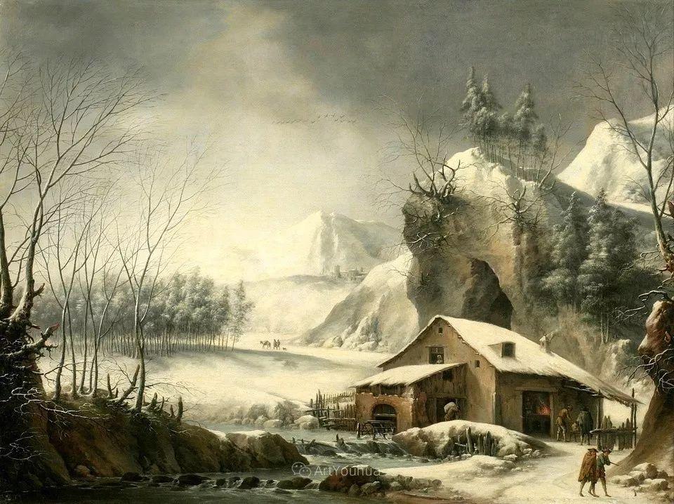 犹如仙境的冬季风景画,意大利艺术家Francesco Foschi插图3