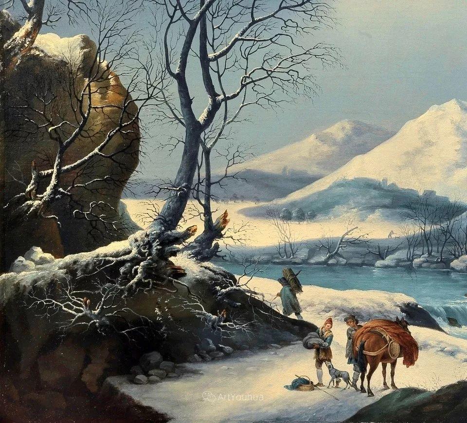 犹如仙境的冬季风景画,意大利艺术家Francesco Foschi插图5