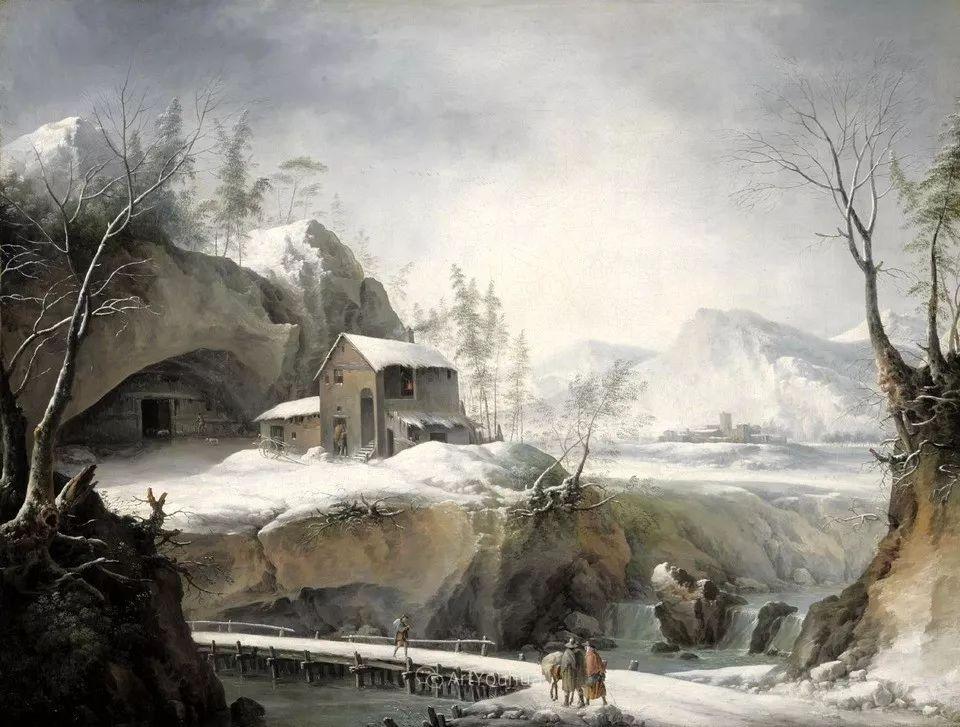 犹如仙境的冬季风景画,意大利艺术家Francesco Foschi插图6