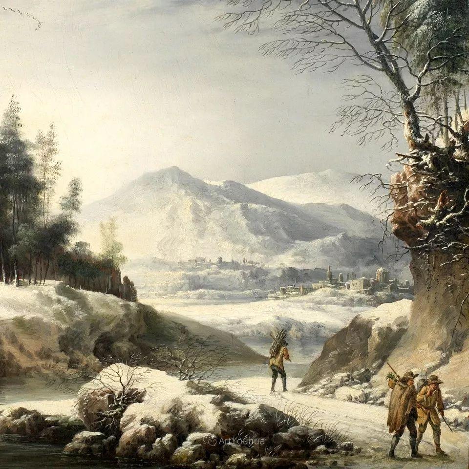 犹如仙境的冬季风景画,意大利艺术家Francesco Foschi插图7