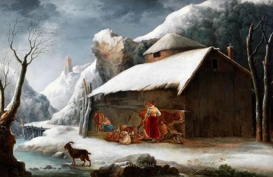 犹如仙境的冬季风景画,意大利艺术家Francesco Foschi插图8