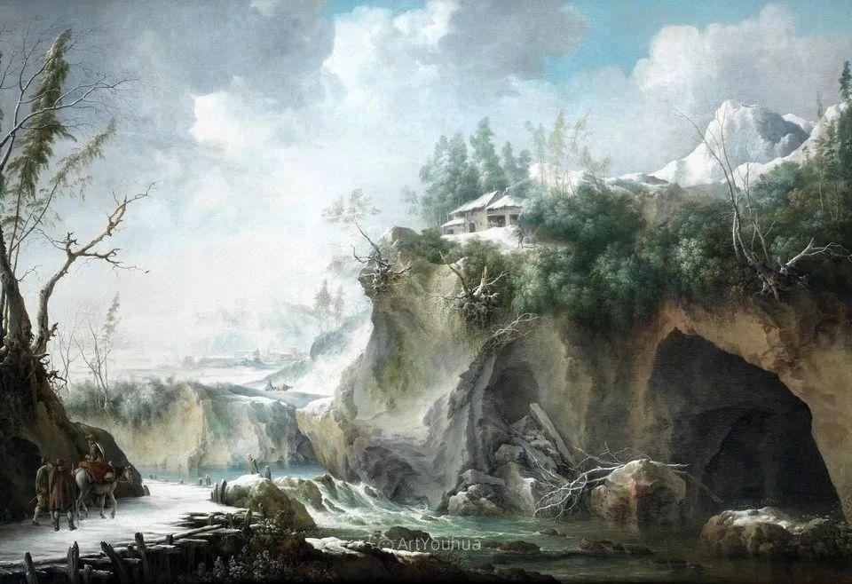 犹如仙境的冬季风景画,意大利艺术家Francesco Foschi插图9