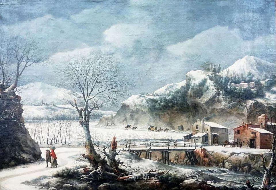 犹如仙境的冬季风景画,意大利艺术家Francesco Foschi插图10