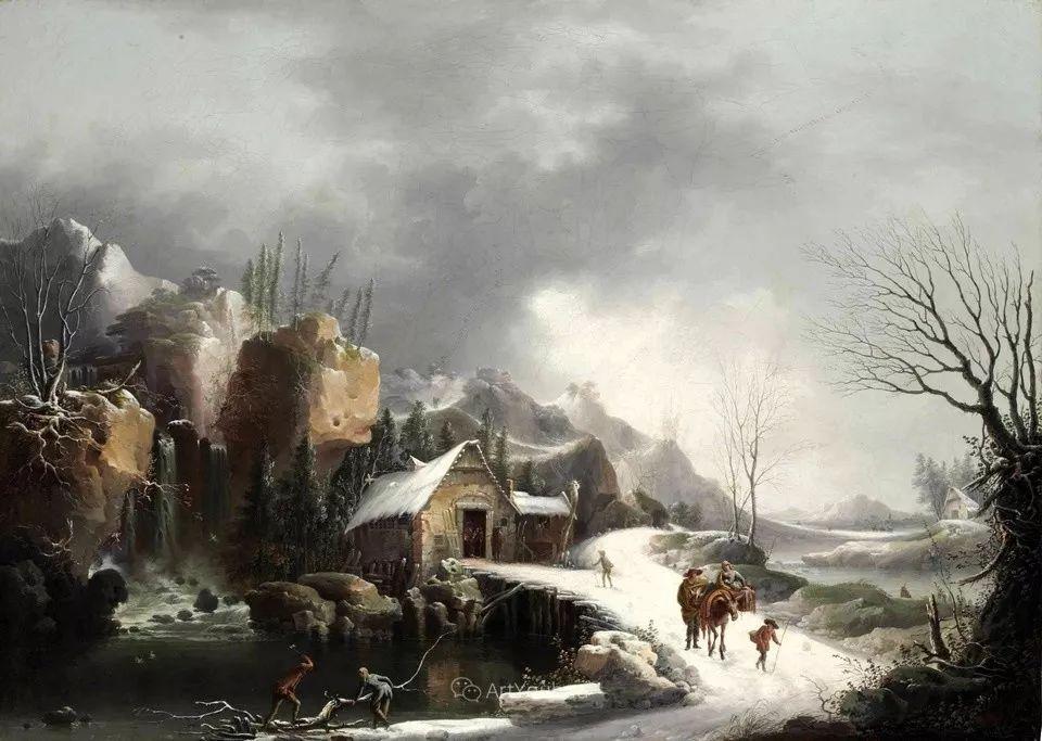 犹如仙境的冬季风景画,意大利艺术家Francesco Foschi插图13