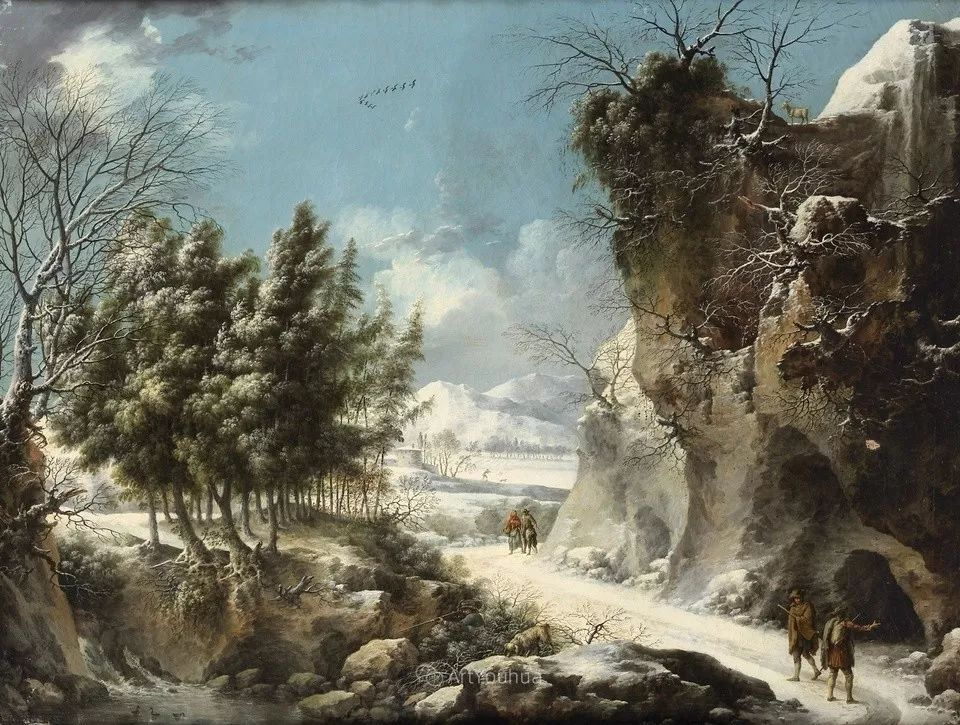 犹如仙境的冬季风景画,意大利艺术家Francesco Foschi插图14