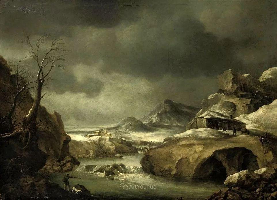 犹如仙境的冬季风景画,意大利艺术家Francesco Foschi插图15