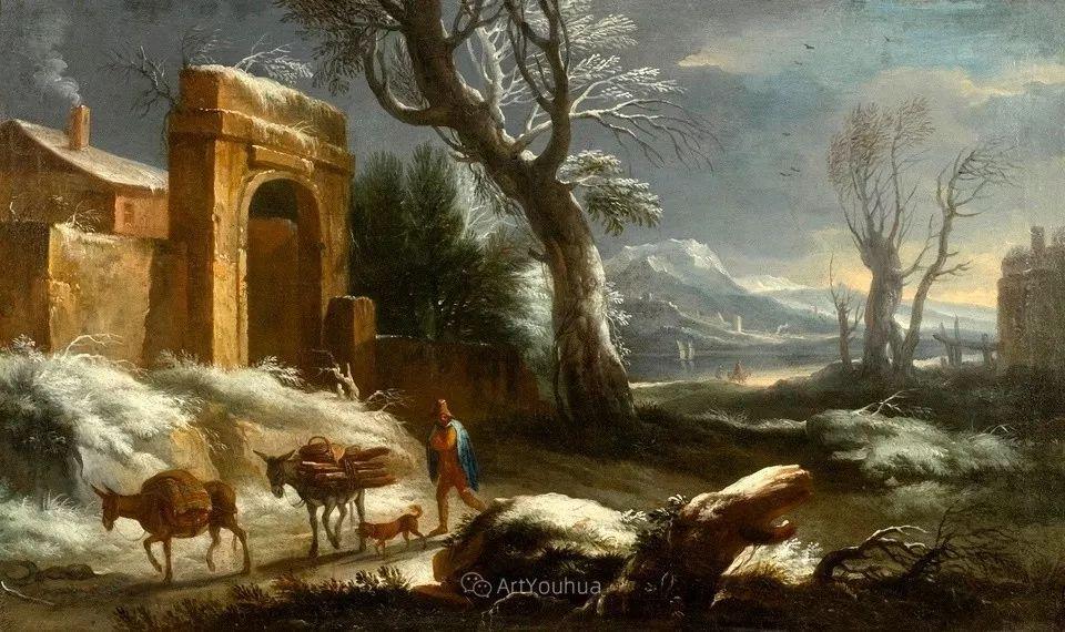 犹如仙境的冬季风景画,意大利艺术家Francesco Foschi插图17