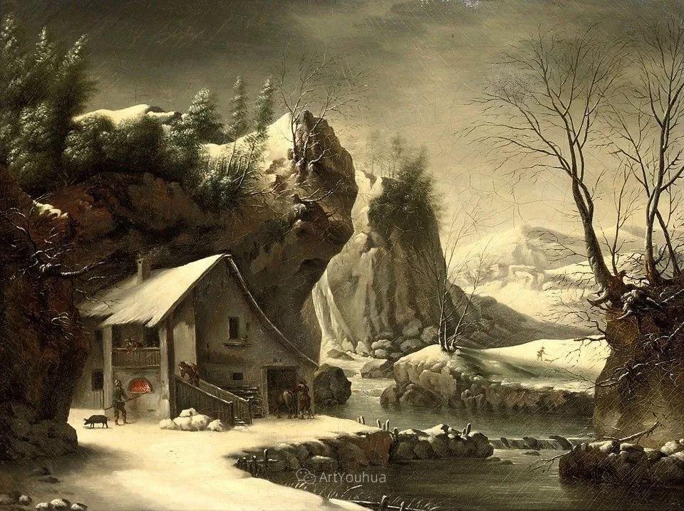 犹如仙境的冬季风景画,意大利艺术家Francesco Foschi插图19