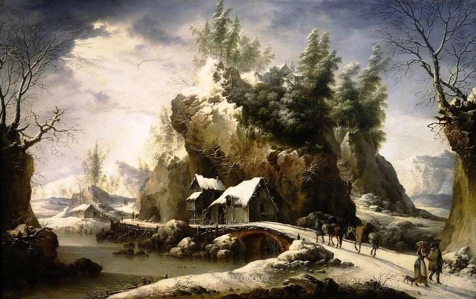 犹如仙境的冬季风景画,意大利艺术家Francesco Foschi插图20