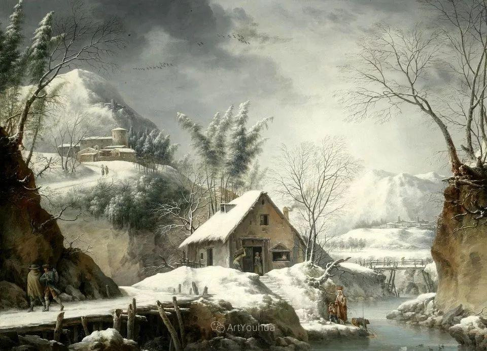 犹如仙境的冬季风景画,意大利艺术家Francesco Foschi插图23