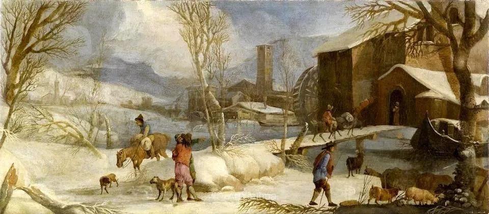 犹如仙境的冬季风景画,意大利艺术家Francesco Foschi插图27